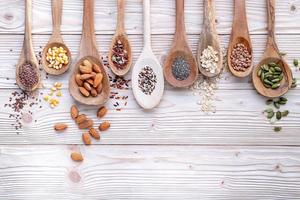 Nuts and grains photo
