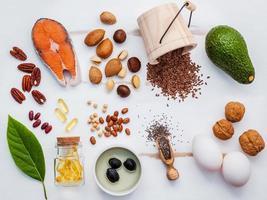 Healthy food flat lay
