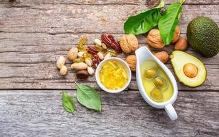 Omega 3 and unsaturated fats rich foods