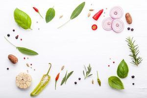 marco de ingrediente italiano fresco foto