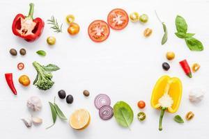 Fresh veggies and herbs photo
