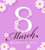 International women's Day banner template. Postcard on March 8. vector
