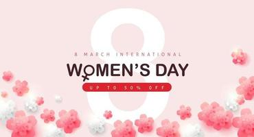 International women's Day sale banner template vector