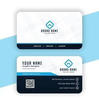 modern blue professional business card template design vector