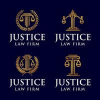 justice law firm legal logo icon vector template