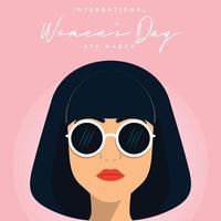 8 march, International Women's Day. Vector template with lettering design. Vector illustration
