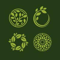 nature concept with leaf logo vector template