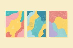 conjunto de fondo abstracto contemporáneo