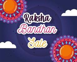 raksha bandhan mega sale poster vector