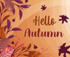 hello autumn leaves season image