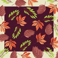 Autumn leaves pattern background vector