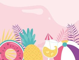 Cute summer vibes background vector
