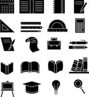 School teacher supplies set vector