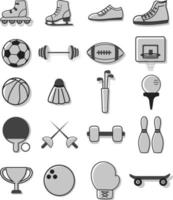 Favorite sport icon set vector