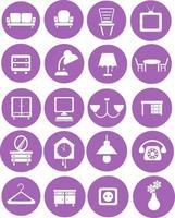 House furniture, illustration, vector on white background icon set