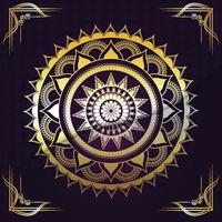 Mandala creative golden mandala vector