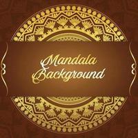 Luxury background with golden mandala vector