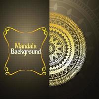 Luxury golden mandala background vector