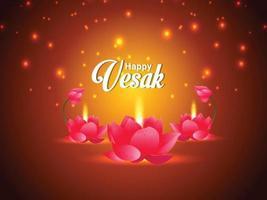 Happy vesak celebration background vector