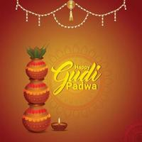 feliz gudi padwa tarjetas de felicitación