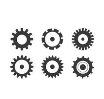 Gear Wheels Shape Set vector