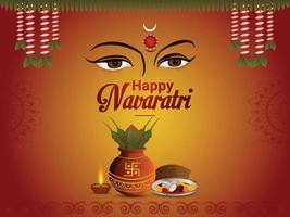 Traditiona navratri celebration background vector