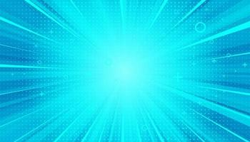 Blue sanny rays background. Sparkling magical dust particles. Vector illustration.