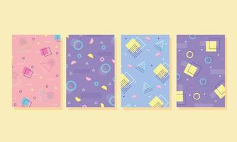 Contemporary abstract background set vector