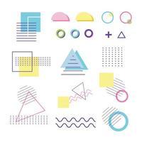 conjunto de iconos abstractos contemporáneos vector