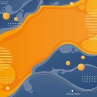 Abstract Orange Fluid Background vector