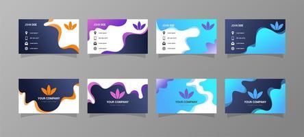 diseños de tarjetas de visita con estilo degradado vector