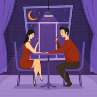 Valentine's Dinner in A Romantic Setting vector