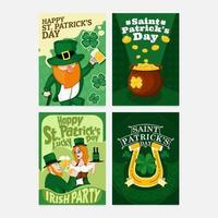 St. Patrick's Day Card Celebration vector