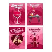 Valentine Dinner Date Card vector