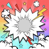Rainbow Pop art Background Concept vector