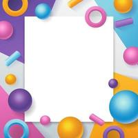 Minimalist Abstract 3D Geometric Background vector