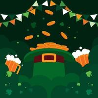 ST. Patrick's Day with A Big Hat vector