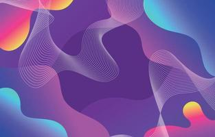 Abstract Wave Colourful Background vector