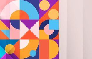 Colorful Geometric Composition Concept vector
