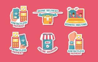 Cute UNTACT Contactless Sticker Set