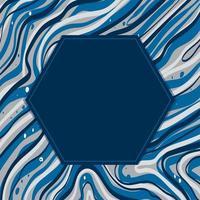 fondo abstracto con hexágono en el centro vector