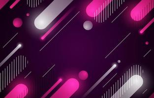 Modern Abstract Shape Background with Neon Color