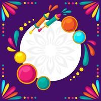 Fondo colorido holi en diseño plano vector
