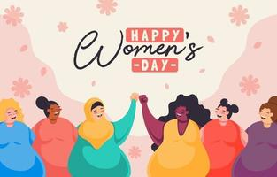 Womens Day Concept in Flat Design vector