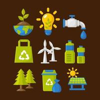 Earth Day Icon in Flat Design Style vector