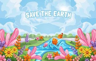 Earth Day Background Illustrations vector