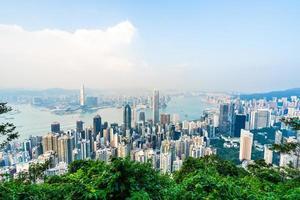 Aerial view of Hong Kong city, China photo