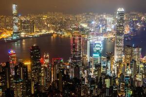 View of Hong Kong city, China photo