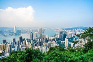 View of Hong Kong city, China