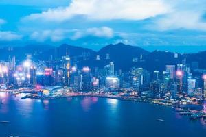 vista de la ciudad de hong kong, china foto